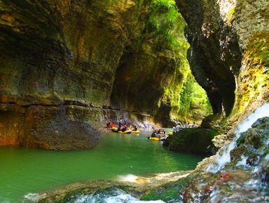 Путешествие в каньон Мартвили и пещеру Прометея
