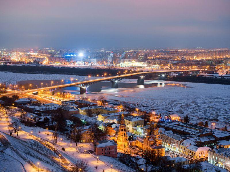 Древний икрасивый Нижний Новгород
