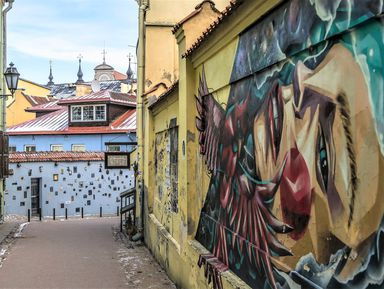 Контрасты Вильнюса: Старый город и богемная республика Ужупис