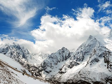 Домбай — страна синего неба, щедрого солнца и снежных вершин