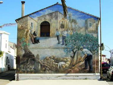 Мурализм Сан Сперате и сад поющих камней