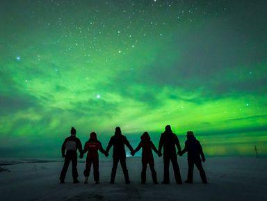 Северное сияние— мерцающая вуаль Заполярья