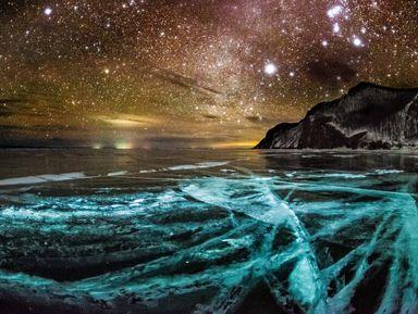 Ночь на льду Байкала