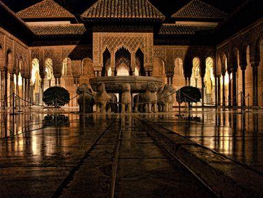 Альгамбра в объятьях ночи