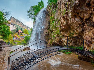 Медовые водопады, или великолепная пятерка и гора