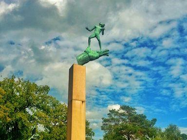 Скульптурные шедевры в саду Карла Миллеса