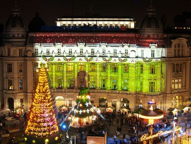 Обнять рождественский Бухарест