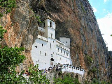 Монастыри Острог, Цетинье и город Подгорица